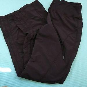 Zella Black Nylon Drawstring Jogging Pants size 10